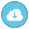 Cloud download icon for oracle cloud services